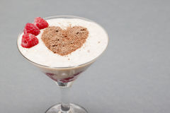 Cocktail of banana, raspberry Stock Photo