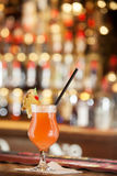 Cocktail on a bar stock photography