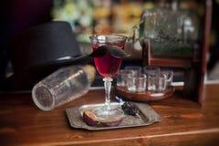 Cocktail at the bar royalty free stock photo