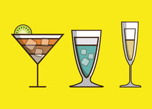 Cocktail bar drink Stock Images
