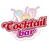 Cocktail bar emblem Royalty Free Stock Photography