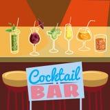 Cocktail bar, invitation, flyer, cartoon style, banner, vector illustration vector illustration