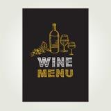 Cocktail bar menu, template design.Vector illustration. Stock Photo