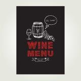 Cocktail bar menu, template design.Vector illustration. Stock Photography