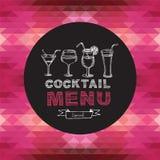 Cocktail bar menu, template design.Vector illustration. Stock Image
