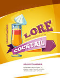 Cocktail bar vector poster template. Summer party background Royalty Free Stock Photo