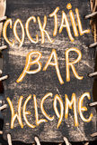 Cocktail bar welcome Royalty Free Stock Image