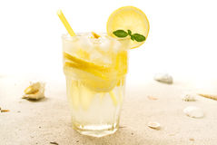 Cocktail on beach Royalty Free Stock Photography