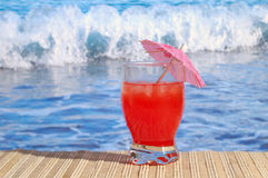 Cocktail at the Beach stock photos
