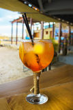Cocktail on the beach bar Royalty Free Stock Images
