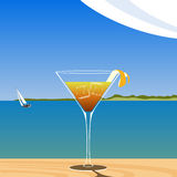 Cocktail on the beach Royalty Free Stock Photography