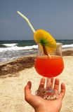 Cocktail on the beach Stock Image