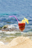 Cocktail on Beach Stock Photos