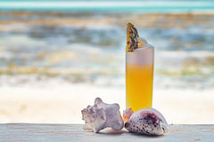 Cocktail on a beach Royalty Free Stock Images