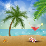 Cocktail on the beach Royalty Free Stock Photo