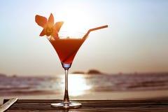 Cocktail on the beach Stock Photos