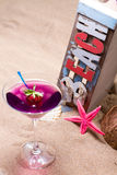 Cocktail on the beach - molecular mixology Stock Image