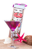 Cocktail on the beach - molecular mixology Royalty Free Stock Photos