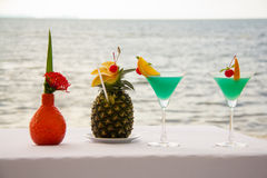 Cocktail On The Beach Royalty Free Stock Image