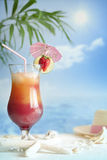 Cocktail on the beach with starfish Stock Photography