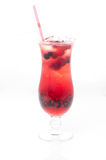 Cocktail with berry. Isolated on white background Stock Image