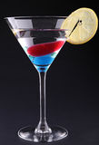 Cocktail on black background Royalty Free Stock Photo