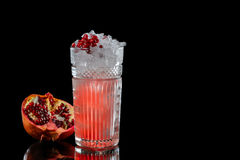 Cocktail on a black background Royalty Free Stock Images