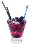 Cocktail with blackberry. On a white background Royalty Free Stock Photography