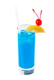 Cocktail-blauer Hawaiianer lizenzfreie stockfotos
