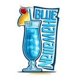 Cocktail-blauer Hawaiianer lizenzfreie abbildung