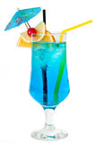 Cocktail bleu Photos stock