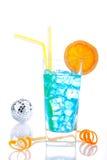 Cocktail bleu d'Hawaï photos libres de droits
