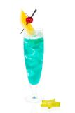 Cocktail bleu d'Hawaï Images stock