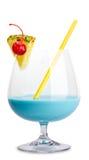 Cocktail bleu de dame Photographie stock