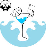 Cocktail bleu de martini Photos stock