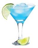 Cocktail bleu du Curaçao images stock
