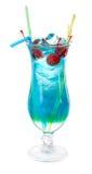 Cocktail bleu du Curaçao images libres de droits