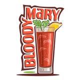 Cocktail bloedige Mary royalty-vrije illustratie