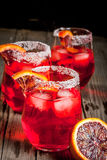 Cocktail bloedige oranje Margarita Stock Foto