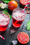 Cocktail with blood orange juice and ice.  stock image