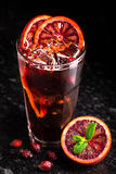 Cocktail with blood oranges Royalty Free Stock Photography