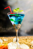 Cocktail blu Immagine Stock