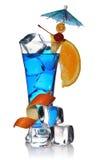 Cocktail blu del Curacao fotografia stock