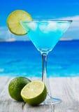 Cocktail blu del Curacao Fotografie Stock Libere da Diritti