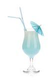 Cocktail blu della crema della noce di cocco Fotografia Stock Libera da Diritti