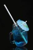 Cocktail blu della laguna fotografia stock libera da diritti