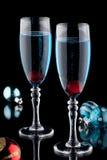 Cocktail blu di Champagne Fotografia Stock Libera da Diritti