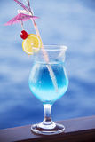 Cocktail blue Stock Photography