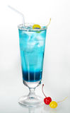 Cocktail blue color Royalty Free Stock Photo