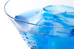 Cocktail with blue curacao Stock Photo